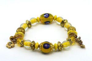 Bracelet avec perles Millefiori