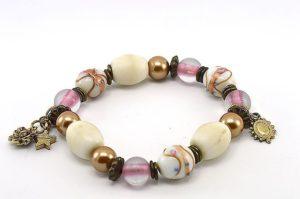 Bracelet de perles lampwork