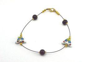 Bracelet en perles cloisonnées