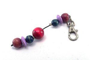 Porte-clés rose, bleu et violet - Collection Bric à Brac