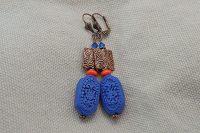Boucles d'oreilles cinabre et cuivre - Collection Cooper
