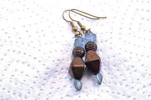Boucles d'oreilles fleur et cuivre - Collection Cooper