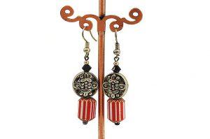 Boucles d'oreilles en chevrons vénitiens - Collection Cooper