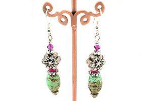 Boucles d'oreilles en turquoise - Collection Cooper