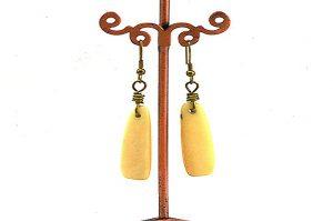 Boucles d'oreilles longues en corne - Collection Casamance