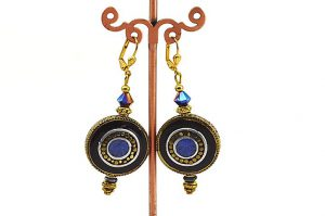 Boucles d'oreilles en lapis-lazulis - Collection Casamance
