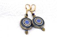 Boucles d'oreilles en lapis-lazulis - Collection Casamance
