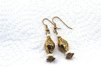 Boucles d'oreilles en métal doré - Collection Casamance