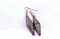 Boucles d'oreilles en métal doré vieilli - Collection Casamance