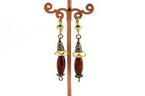 Boucles d'oreilles en corne et bois - Collection Casamance