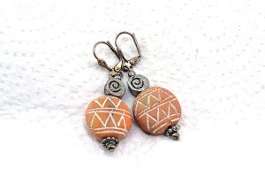 Boucles d'oreilles en terre cuite - Collection Casamance