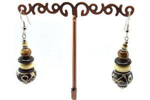 Boucles d'oreilles toutes en corne - Collection Casamance