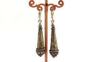 Boucles d'oreilles style oriental en métal - Collection Casamance