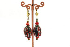 Boucles d'oreilles tibétaines - Collection Casamance