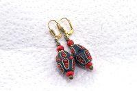 Boucles d'oreilles tibétaines - Collection Casamance