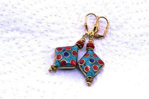 Boucles d'oreilles rococo - Collection Casamance
