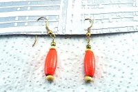 Boucles d'oreilles orange en bois - Collection Erzébet