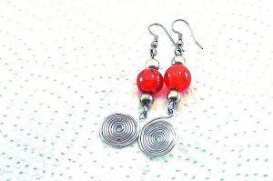 Boucles d'oreilles en fil enroulé - Collection Gozo