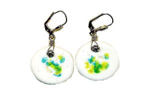 Boucles d'oreilles en émail - Collection Jaisalmer