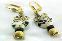 Boucles d'oreilles en os tacheté - Collection Jaisalmer