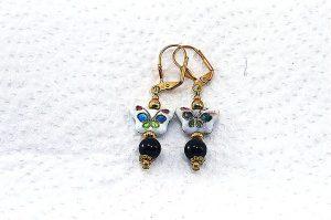 Boucles d'oreilles papillon - Collection Pacific