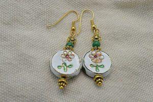 Boucles d'oreilles en cloisonnées - Collection Jaisalmer