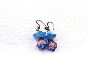 Boucles d'oreilles fleur de verre - Collection Jaisalmer