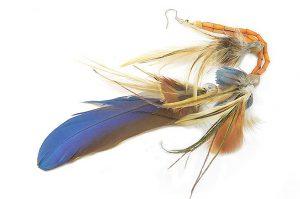 Boucle d'oreilles unique en plumes - Collection Jaisalmer