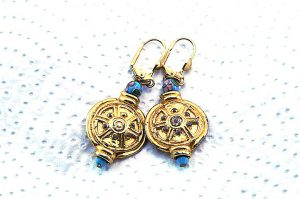 Boucles d'oreilles disque solaire - Collection Jaisalmer