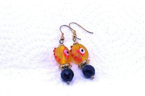 Boucles d'oreilles en oeil de verre - Collection Jaisalmer