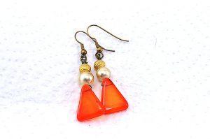 Boucles d'oreilles en triangle - Collection Jaisalmer