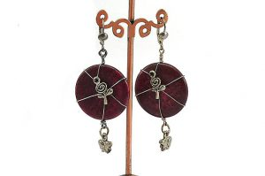 Boucles d'oreilles howlite teintée - Collection Jaisalmer