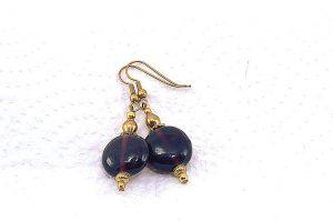 Boucles d'oreilles violettes en verre - Collection Jaisalmer