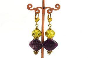 Boucles d'oreilles en jadéite - Collection Jaisalmer