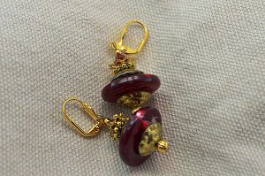 Boucles d'oreilles forme soucoupe - Collection Jaisalmer