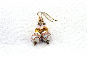 Boucles d'oreilles lampwork - Collection Macchiarelli