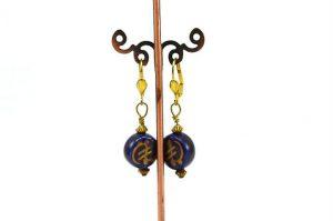 Boucles d'oreilles bleu de Chine - Collection Macchiarelli