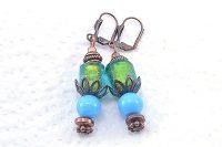 Boucles d'oreilles en bleus mélangés - Collection Macchiarelli