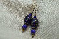 Boucles d'oreilles lampwork bleu - Collection Macchiarelli