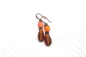 Boucles d'oreilles en petite feuille - Collection Macchiarelli