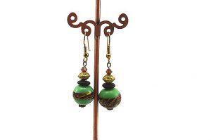 Boucles d'oreilles en perle lampwork - Collection Macchiarelli