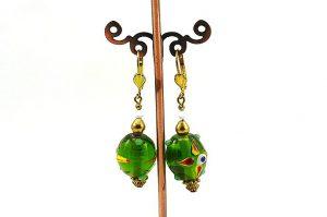 Boucles d'oreilles avec perles lampwork - Collection Macchiarelli