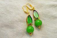 Boucles d'oreilles aux deux verts - Collection Macchiarelli