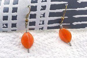 Boucles d'oreilles marron/orange - Collection Orion