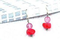 Boucles d'oreilles rose/violet - Collection Orion