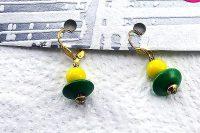Boucles d'oreilles jaune/vert - Collection Orion