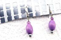 Boucles d'oreilles en bois violet - Collection Orion