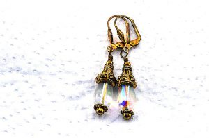 Boucles d'oreilles style vintage - Collection Pacific