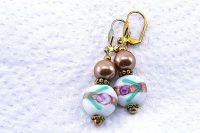 Boucles d'oreilles perles lampwork - Collection Pacific