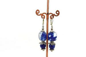 Boucles d'oreilles en sodalite - Collection Macchiarelli